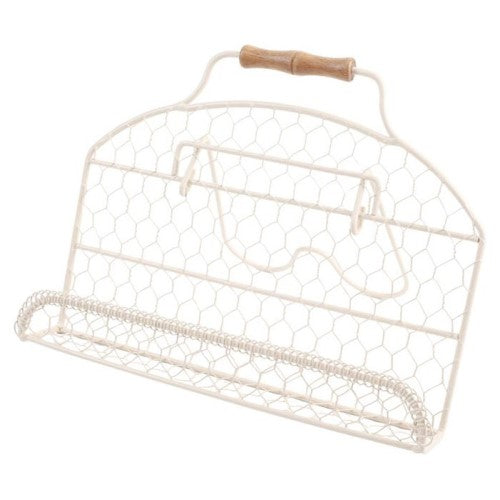 Provence Cream Wire Cook Book Stand