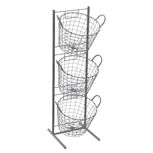 Small Round 3 Basket Wire Display Unit