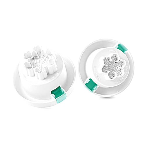 Silikomart Snowflake Plunger Cutters, 2 Piece