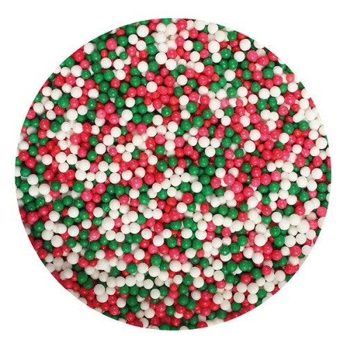 Purple Cupcakes Edible Nonpareils, 100g, Christmas Mix