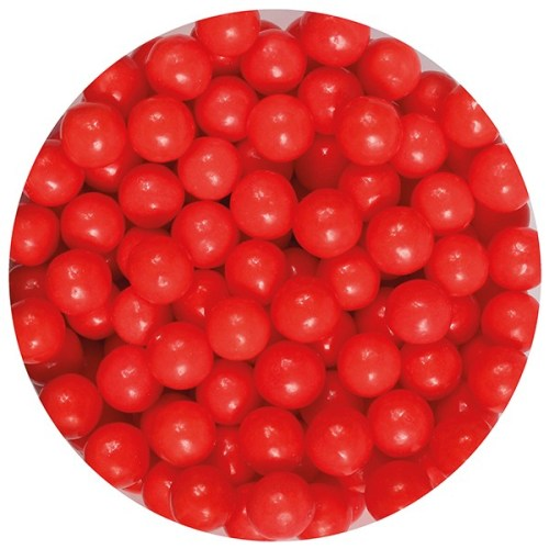 Edible Sugar Pearls, 7mm, 90g, Red