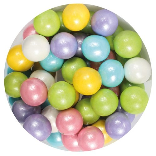 Purple Cupcakes Edible Pearls, 10mm, 80g, Rainbow