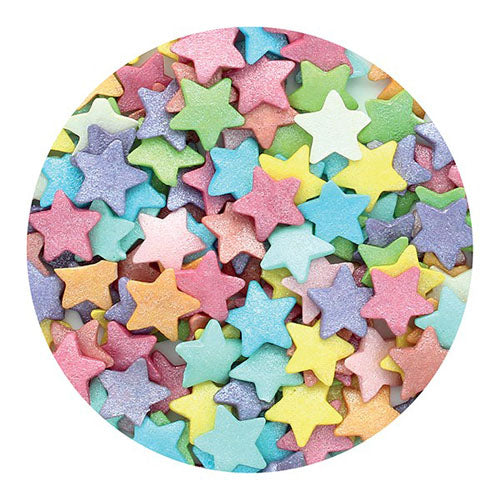 Shimmer Jumbo Stars, 50g, Multicoloured