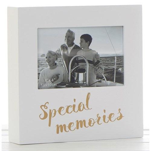 "Golden Words 6"" x 4"" Photo Frame, 'Moments'"