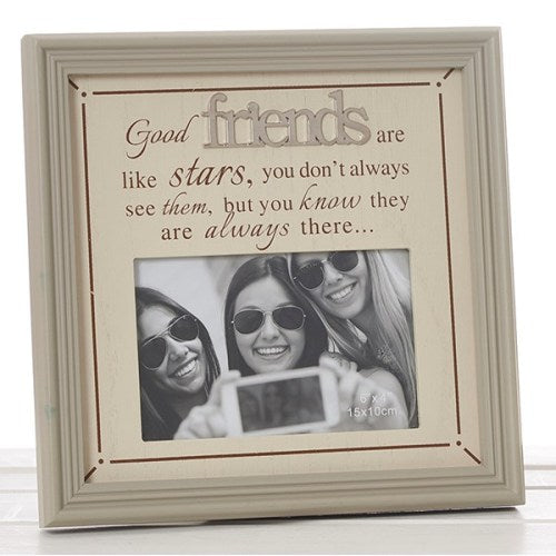 "Fine Phrases 4"" x 6"" Photo Frame, 'Friends'"