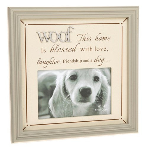 "Fine Phrases 4"" x 6"" Photo Frame, 'Woof'"