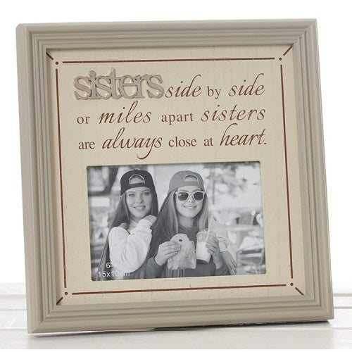 "Fine Phrases 4"" x 6"" Photo Frame, 'Sisters'"