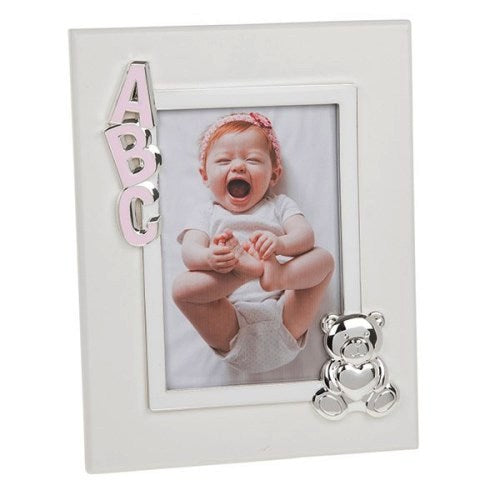 "ABC Baby Frame , 4"" x 6"", Pink"
