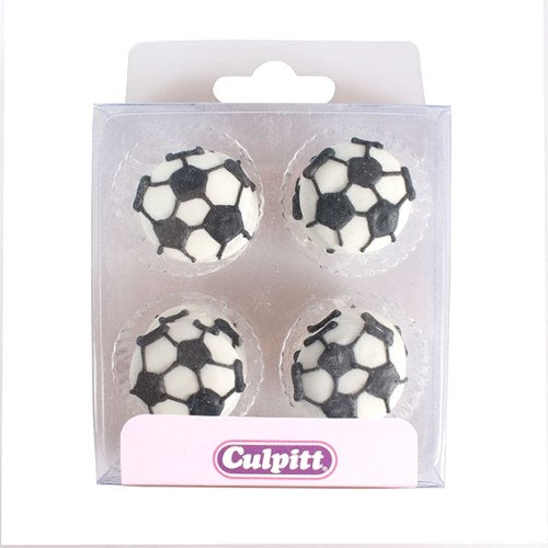 Football Sugar Pipings, Pack Of 12