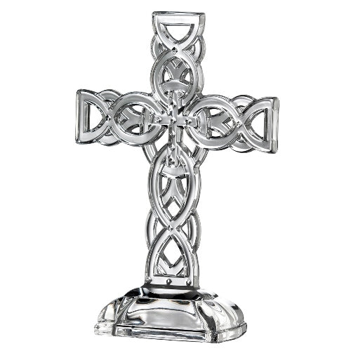 Galway Crystal Celtic Cross, 10.5""