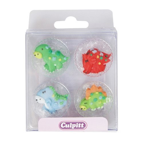 Dinosaurs Sugar Pipings, 12 Piece