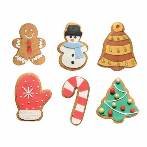 Festive Cookie Cutter Set, Set Of 6
