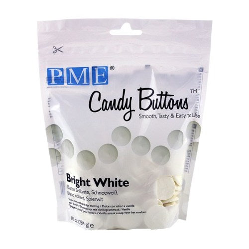PME Candy Buttons, Bright White Vanilla Flavoured