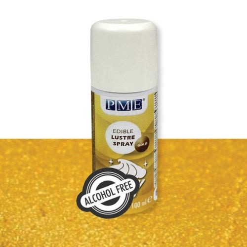 PME Alcohol-Free Edible Lustre Spray, Gold
