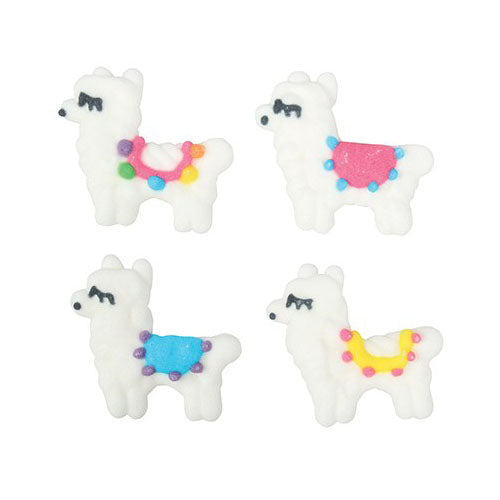 Llama Sugar Cake Decorations, 1 Piece