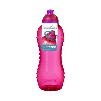 Sistema Twist 'N' Sip Bottle, 460ml, Pink