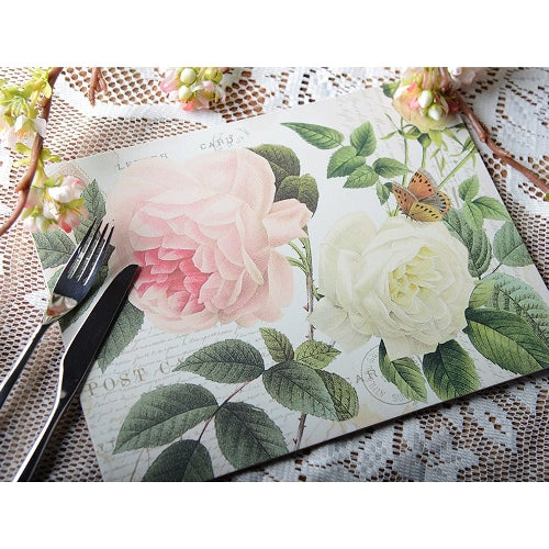 Rose Garden Placemats, Set Of 6