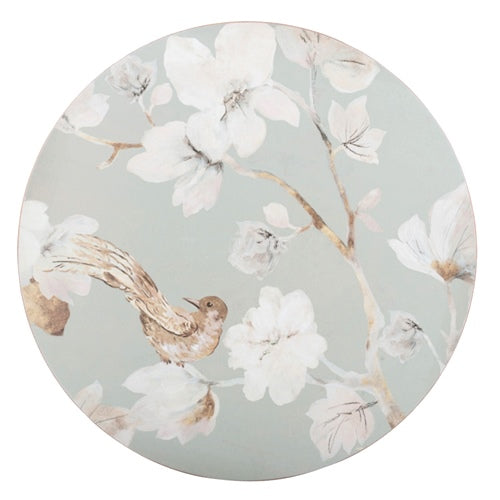 Round Duck Egg Floral Placemats, Set Of 4