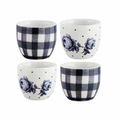Katie Alice Vintage Indigo Egg Cups, Set Of 4