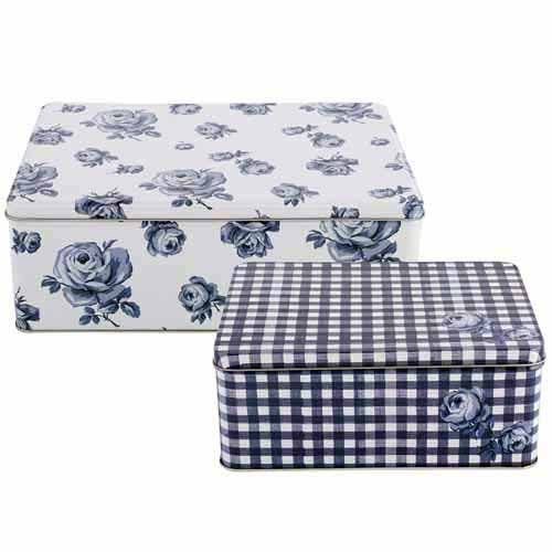 Katie Alice Vintage Indigo Rectangular Cake Tins, Set Of 2