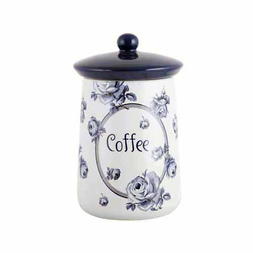 Katie Alice Vintage Indigo Ceramic Storage Jar, Coffee