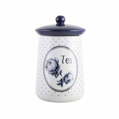 Katie Alice Vintage Indigo Ceramic Storage Jar, Tea