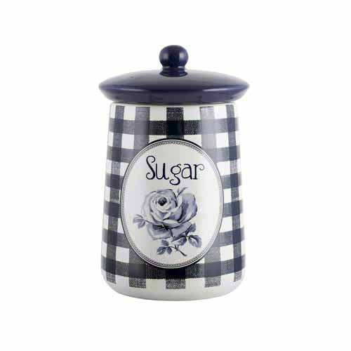 Katie Alice Vintage Indigo Ceramic Storage Jar, Sugar