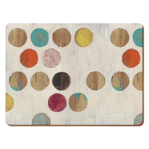 Retro Spot Premium Placemats, Pack Of 6