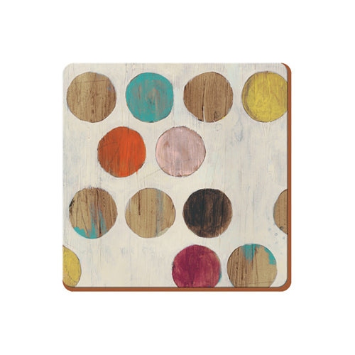 Retro Spot Premium Coasters, Pack Of 6