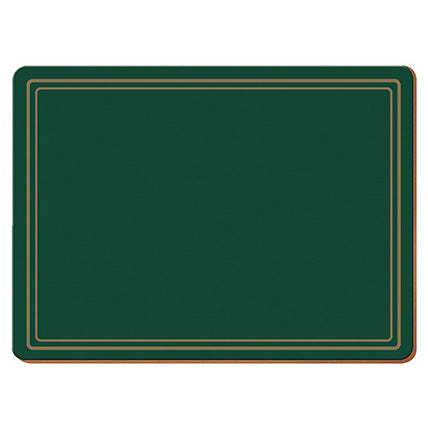 Classic Premium Placemats, Pack Of 6, Green
