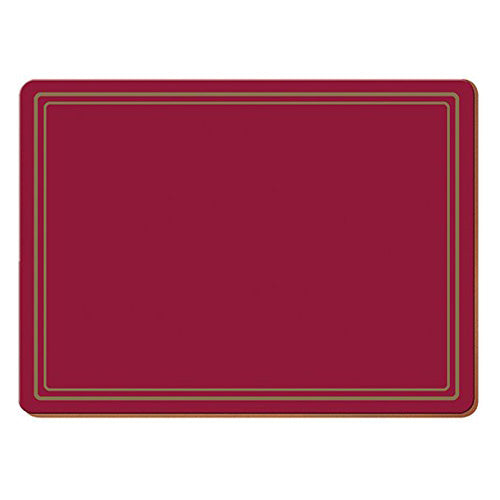 Classic Premium Placemats, Pack Of 6, Red