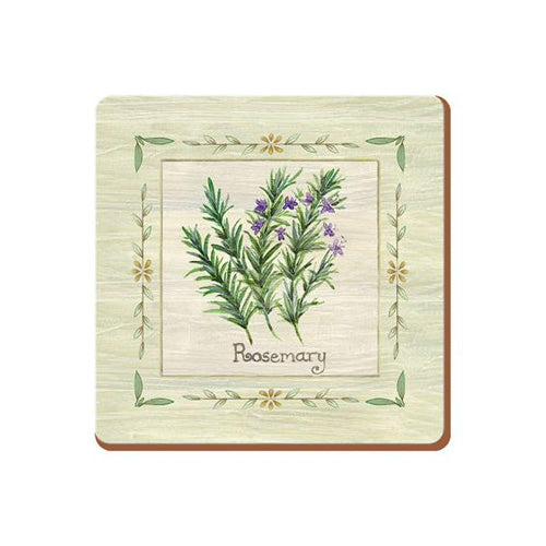 Fresh Herbs Premium Coasters, Pack Of 6