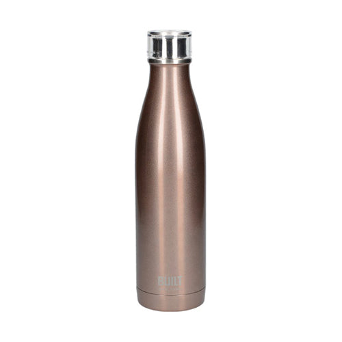Built Double Walled Stainless Steel Water Bottle, 17oz, Rose Gold