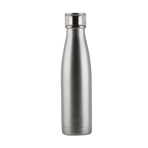 Built Double Walled Stainless Steel Water Bottle, 17oz, Silver