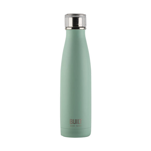 Built Double Walled Stainless Steel Water Bottle, 17oz, Mint