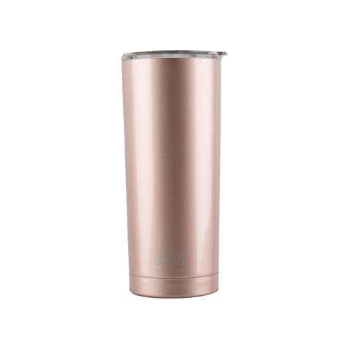 Built Double Walled Stainless Steel Travel Mug, 565ml, Rose Gold