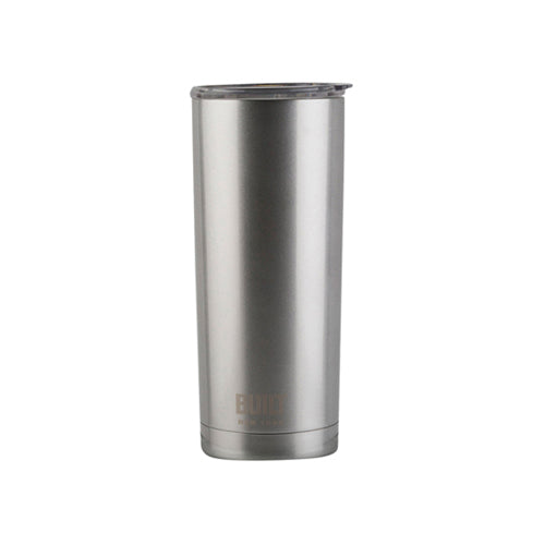 Built Double Walled Stainless Steel Travel Mug, 565ml, Silver