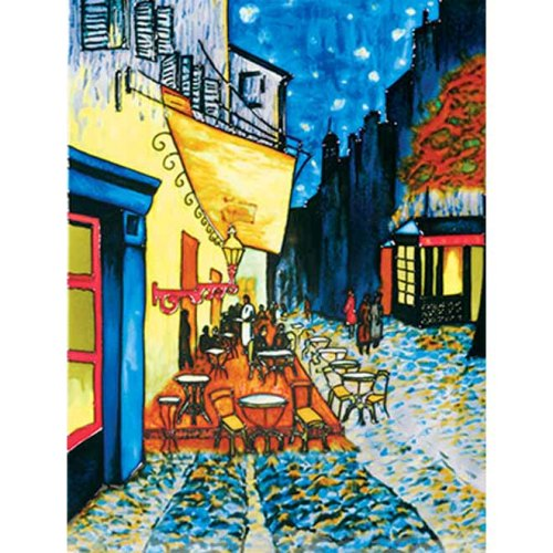 "Benaya Art Ceramic Tiles 'Cafe By Night', 11"" x 14"""