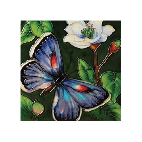 "Benaya Art Ceramic Tiles 'Butterfly Beauty' 8"" x 8"""