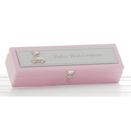 Birth Certificate Holder, Pink