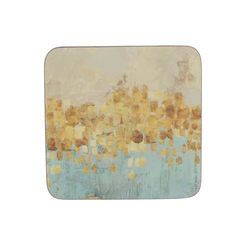 Golden Reflections Premium Coasters, Set Of 6