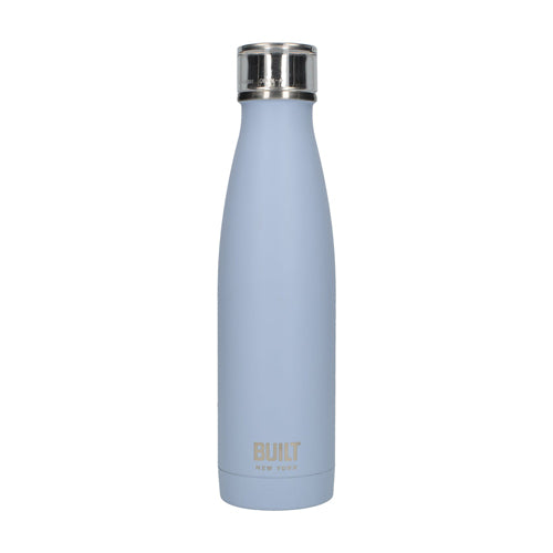 Built Double Walled Stainless Steel Water Bottle, 17oz, Arctic Blue