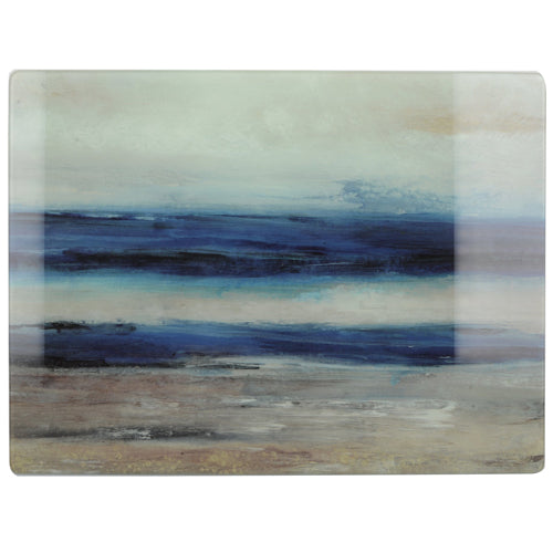 Glass Worktop Saver, Blue Abstract