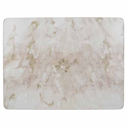 Grey Marble Design Premium Placemats, Set Of 6