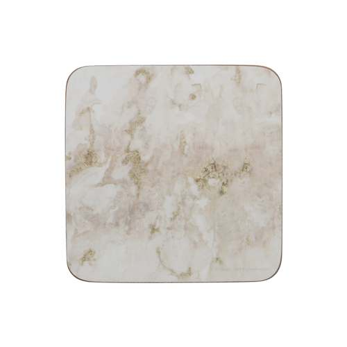 Grey Marble Design Premium Coasters, Set Of 6