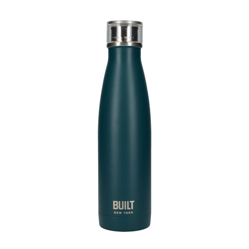 Built Double Walled Stainless Steel Water Bottle, 17oz, Teal