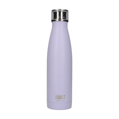 Built Double Walled Stainless Steel Water Bottle, 17oz, Lavender