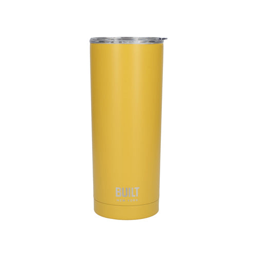 Built Double Walled Stainless Steel Travel Mug, 565ml, Mustard