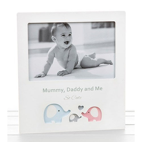 Cut Out Frame 'Mummy, Daddy & Me'