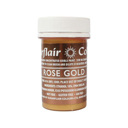Sugarflair Edible Paint, 20g, Rose Gold